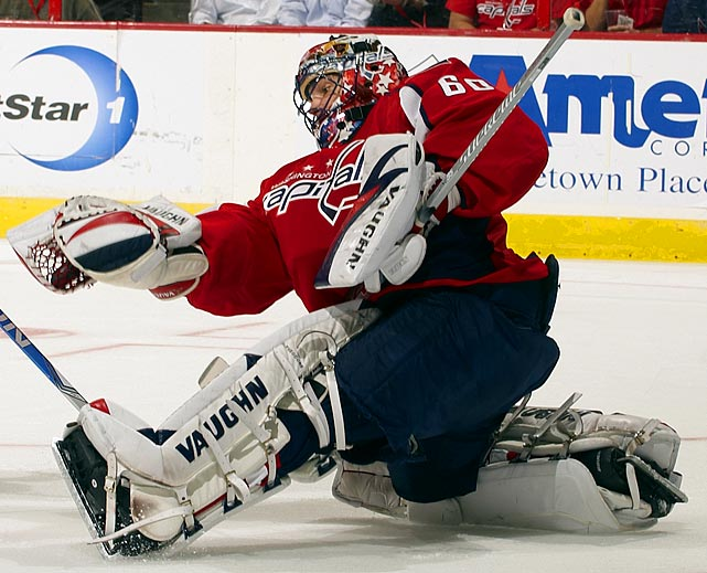 Has been seemingly star-crossed since his Vezina and Hart Trophy-winning season in Montreal (2002). Occasionally shows flashes of his old form and is coming off a season as a backup in which he earned the Masterton Trophy for continuing to play after the devastating tragedy of losing his baby son.   2009-10 stats (Washington):   47 GP  30 W  7 L  7 OTL  2.81 GAA  .911 SV%