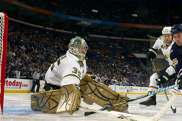 An athletic, adept stickhandler, his nine-year tenure with the Stars was marred by occasional meltdowns, although he did perform brilliantly at times and can lend a stabilizing presence to a team that needs a veteran netminder.    2009-10 stats (Dallas):   53 GP  22 W  20 L  11 OTL  2.31 GAA  .911 SV%