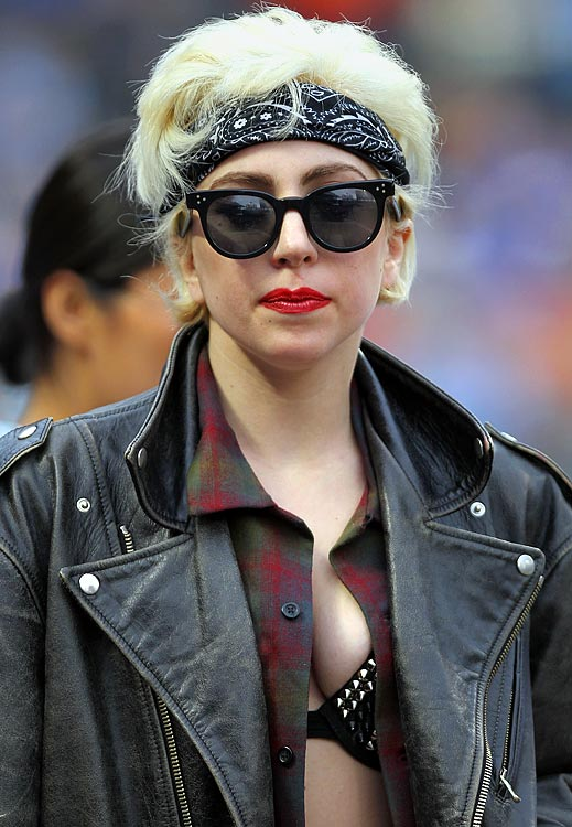 What does a pop star do on a day off?  Go to a Mets' game, of course.  Lady GaGa watched the Amazins take on the San Diego Padres at Citi Field and, true to form, she made quite a fashion statement at the sporting event.