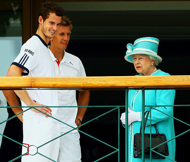 Ever wonder what the Queen of England's sport of choice is?  Well, after a 33-year drought she returned to Wimbledon to take in some tennis, watching Englishman Andy Murray defeat Finland's Jarkko Nieminen.  She even made time for a lunch date with Roger Federer.