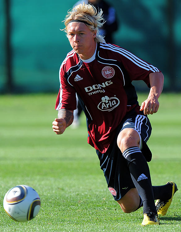 Kjaer's participation will depend on his recovery from a blow to the knee during a pre-tournament friendly against Senegal, but his inclusion in the squad (named after that game) tells you how highly Morten Olsen rates him. The Palermo defender was named Danish Talent of 2009 after an international debut in which he marked Zlatan Ibrahimovic out of the game to help the Danes beat Sweden 1-0. He can score goals, too.