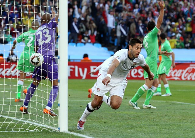 The U.S. had another seemingly legitimate goal wiped out when Clint Dempsey was ruled offside on his 21st-minute rebound of Herculez Gomez's shot in the 21st minute against Algeria. The Americans overcame that controversial call and other near-misses as Landon Donovan scored in injury time to send the U.S. into the knockout phase.