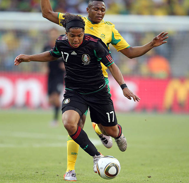 Mexican forward Giovani dos Santos took four shots on the day, including one on goal.
