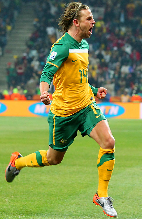 Four minutes later, Brett Holman put Australia up 2-0 with a 30-yard strike that found the bottom right corner of the net. Holman's goal came just nine minutes after he was subbed into the match.