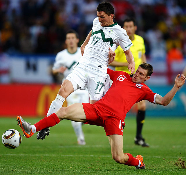 Overall, England created more chances and looked more at ease than in its draw against Algeria. England had eight shots on goal to Slovenia's three and controlled possession 61 percent of the time.