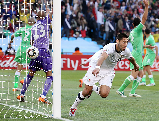 In the second controversial refereeing decision in as many matches, Clint Dempsey's apparent goal in the 20th minute was waived off for an offside violation.