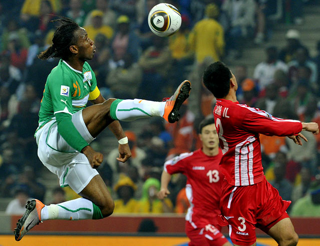 Didier Drogba started in his second consecutive game after breaking his right arm in a friendly between Ivory Coast and Japan on June 4. Drogba took six shots, none of which found the net.