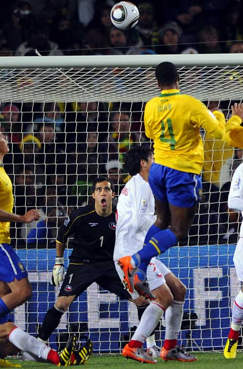 Juan's opening goal in the 35th minute was all Brazil would need to advance to the quarterfinals. The defender easily headed in a corner kick, putting the ball into the top left corner of the goal.