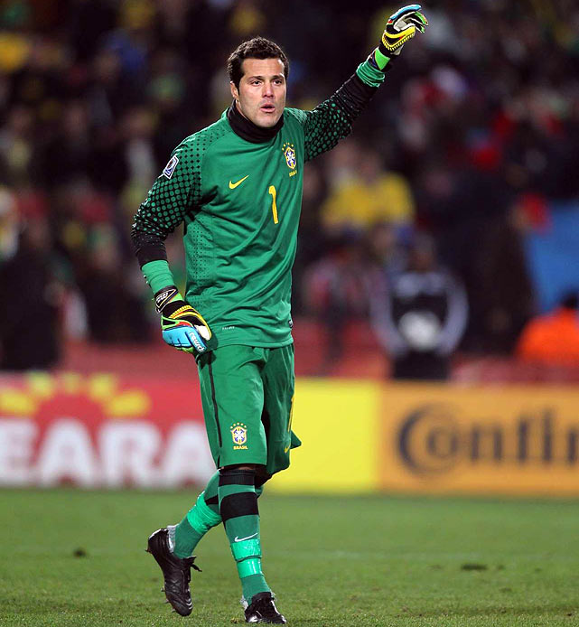Chile had scored in nine consecutive World Cup matches, but the Brazil defense led by goalkeeper Julio Cesar kept them off the board. Chile didn't help its own cause, either -- it had just one shot on goal the entire match.