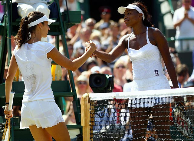 Venus appeared to be on a Wimbledon final collision course with sister Serena, but No. 82 Tsvetana Pironkova of Bulgaria spoiled those plans with a surprisingly routine 6-2, 6-3 victory. Williams, a five-time Wimbledon champion, sprayed 29 unforced errors compared to six for her unheralded opponent.