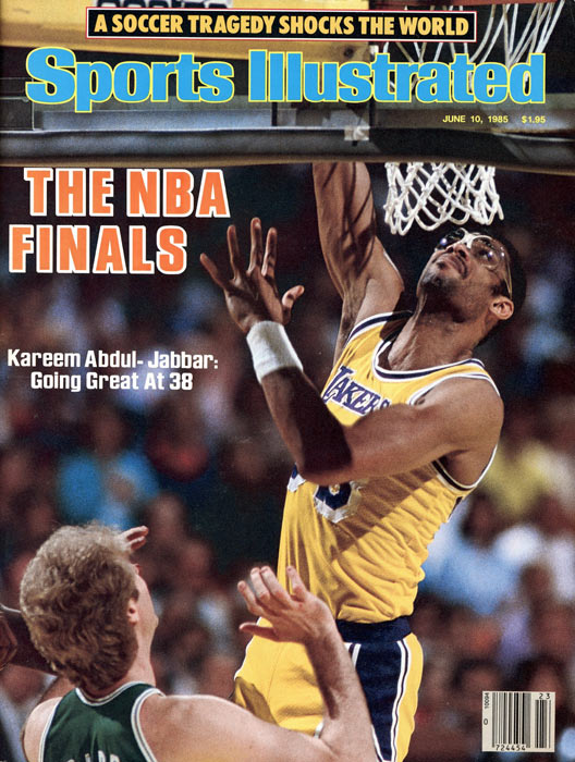 The Los Angeles Lakers win the NBA title by defeating the Boston Celtics. Kareem Abdul Jabbar scores a game-high 29 points in victory.