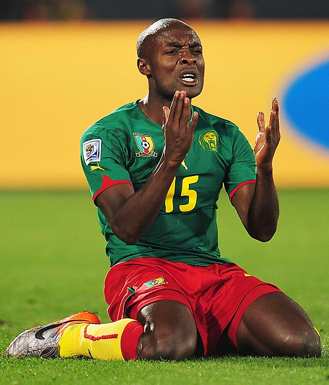 Pierre Webo and Cameroon became the first country to be eliminated from the World Cup after losing its first two matches.