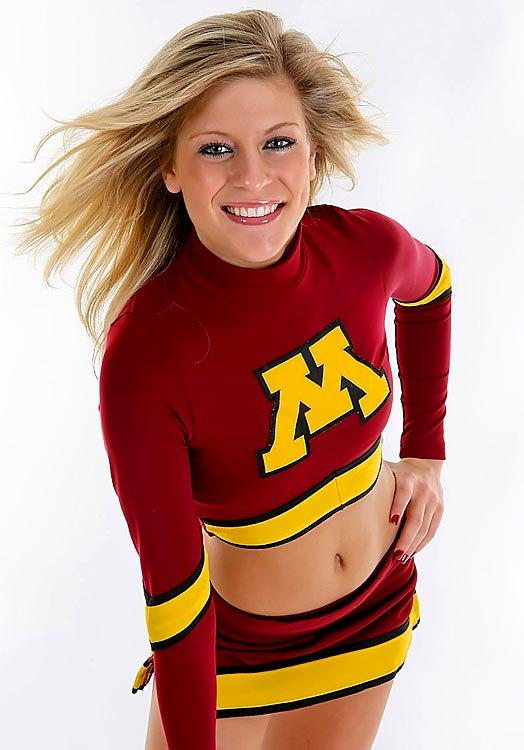 Meet Minnesota junior Chelsea! She has a few unique gameday superstitions (she has to wear a leopard sports bra, for one), but when she's not cheering on the Gophers, you can find her glued to the television watching her favorite basketball team, the Boston Celtics.   Want to find out more? Click the '20 Questions' link below.