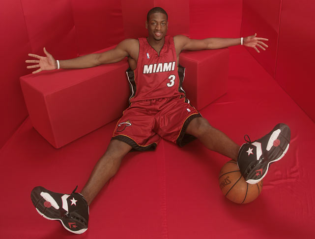 Wade strikes a pose during a SI photo shoot.
