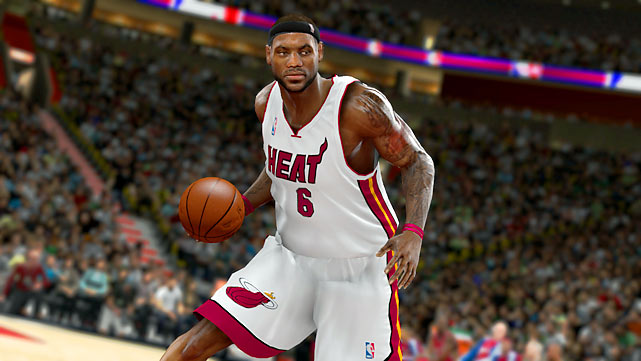 Here's a sneak peek from the upcoming NBA 2K11 game showing off LeBron James in a Heat uniform. We happily applaud ourselves for avoiding a one-hour primetime special to bring you this image.