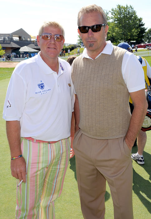 Daly with Kevin Costner at the Inaugural Mike Weir Charity Classic  in Oakville, Canada.