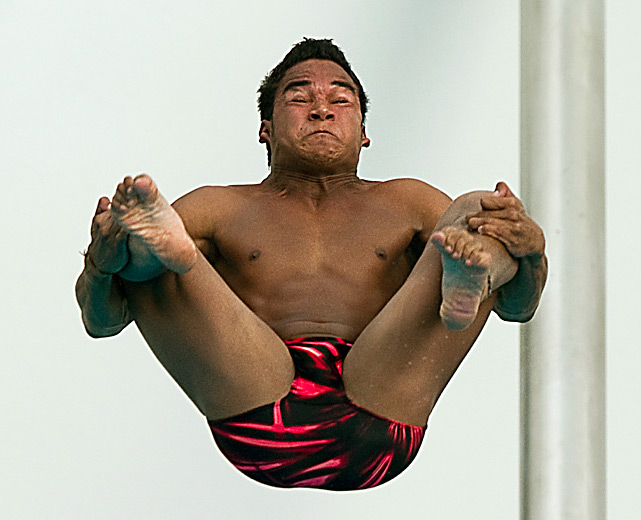 Emilio Colmenares of Venezuela competes in springboard diving at the XXI Central American & Caribbean Games in Puerto Rico.