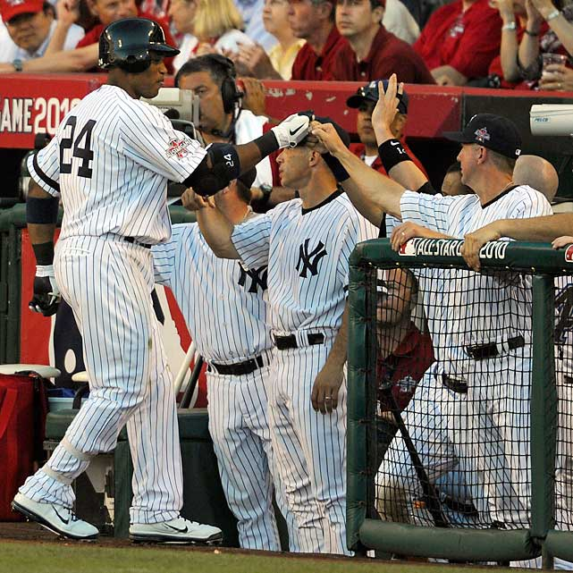 Yankees second baseman Robinson Cano gave the American League a 1-0 lead by hitting a sacrifice fly in the fifth to plate Rays third baseman Evan Longoria.