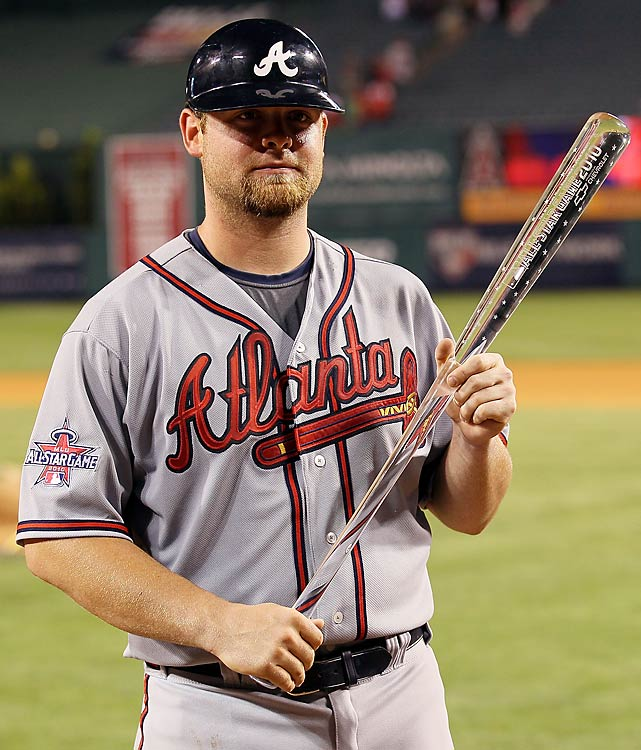Brian McCann was named the All-Star Game MVP. McCann, who replaced Cardinals catcher Yadier Molina in the fifth, drove in all three National League runs with his seventh-inning bases-clearing double.