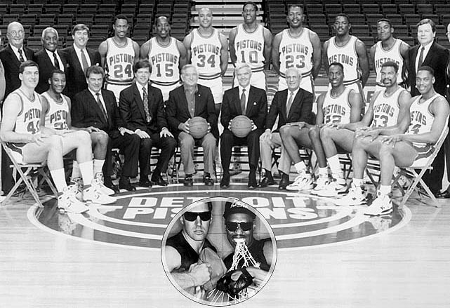Between the joy of Magic and the majesty of Michael was the dark and frightening rise of the Bad Boys. Outside the state of Michigan, you wanted these guys in handcuffs. Never has an NBA team been so easy to detest, what with Rick Mahorn throwing forearms,  Dennis Rodman elbows and Bill Laimbeer fits. Worst thing about them? They were a great, championship-winning basketball team.