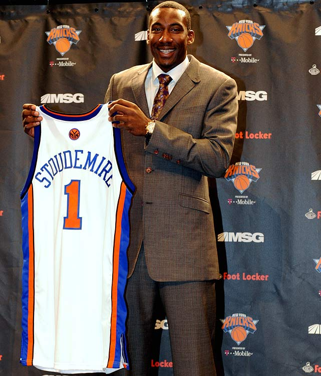 Amar'e Stoudemire is moving on after eight years in Phoenix, where he averaged 21.4 points and 8.9 rebounds and formed a deadly pick-and-roll combination with two-time MVP Steve Nash. The five-year, $100 million deal with the Knicks reunites Stoudemire with former Suns coach Mike D'Antoni.