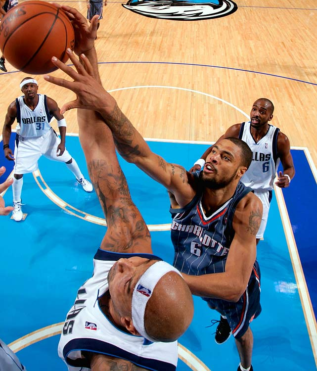 Seeking to bolster their front line, the Mavericks acquired Tyson Chandler in a five-player trade with the Bobcats, who got Erick Dampier and his $13 million non-guaranteed contract as part of the deal. Chandler -- who averaged 6.5 points on 57.4 percent shooting and 6.3 boards last season -- joins re-signed center Brendan Haywood and power forward Dirk Nowitzki in Dallas.