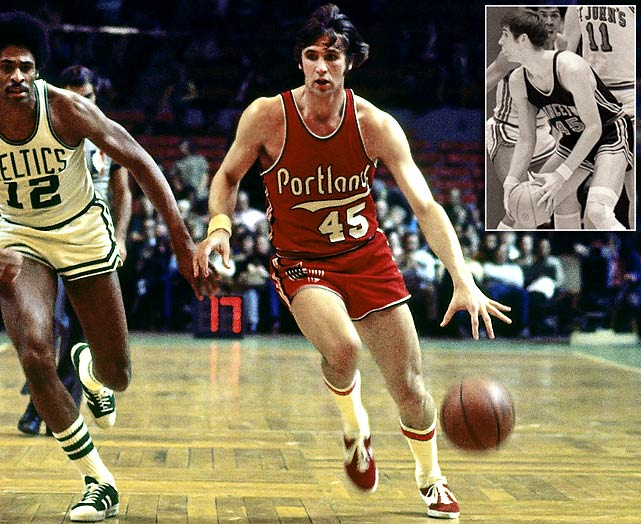 Geoff Petrie, the Trail Blazers' first draft pick, was the co-Rookie of the Year (with Dave Cowens) in 1970-71, when he led Portland with 24.8 points and made the first of two All-Star teams. He averaged at least 18.3 points in each of the next five seasons, but a potential Hall of Fame career was then cut short by knee injuries. Now the Kings' personnel boss, Petrie is a two-time NBA Executive of the Year.