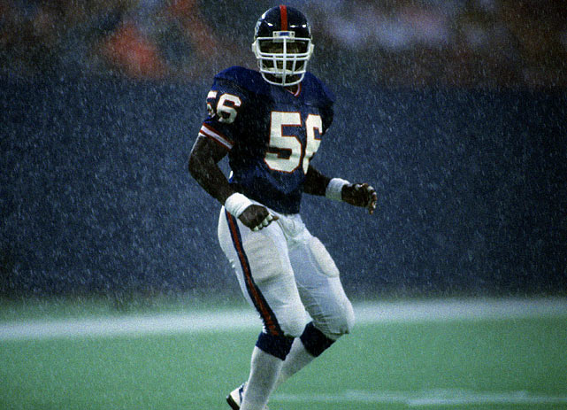 Lawrence Taylor had 13 sacks in 1985, shown here during a 21-0 win over the Philadelphia Eagles.