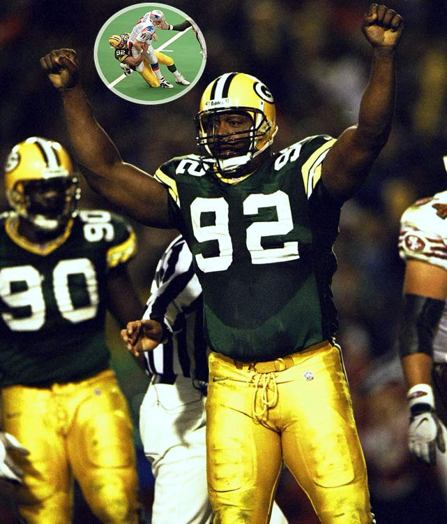 Between John Elway and Reggie White, the 1998 season should go down as the Year of the Old Man. White, in his 16th year as a pro, produced a season for the aged with an incredible 16.0 sacks and All Pro honors. His effort helped lift the Packers to an 11-5 record and a franchise-record sixth straight postseason appearance. Two years earlier, at 35, White was the No. 1 defender on Green Bay's No. 1-ranked defense, and should have won Super Bowl MVP honors: He recorded three sacks in a 35-21 victory over the Patriots.