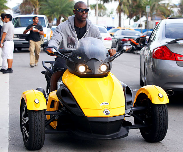 The beleaguered wideout might not have a job... but he does have that thing, which is so much cooler.
