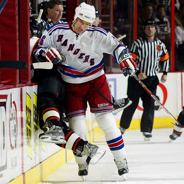 Easily one of the most foolhardy contracts ever awarded (see: Free Agent Busts link below), the Rangers paid Holik money for a grand total of 41 goals and 91 points over two seasons before buying out the final three years of the deal. By the end of the term, Holik was on his way out of the NHL.