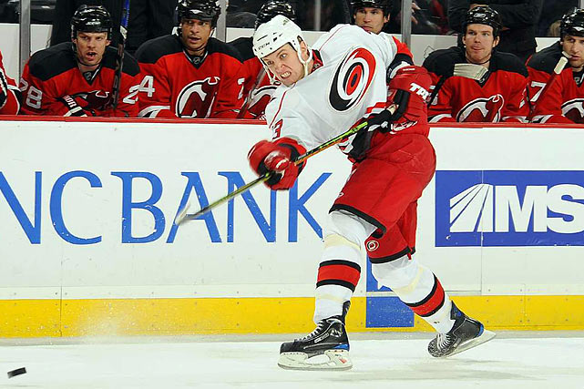 The 25-year-old blueliner, a first-round pick (21st overall) by Chicago in 2002, left Carolina in 2009 to sign with Avangard Omsk. On July 1, 2010, he opted to return to the Hurricanes, signing a one-year deal worth $1.4 million. While he was in Russia, Babcuk led Omsk defensemen in goals (9), points (22), power-play goals (4), game-winning goals (2) and plus/minus ( 17). He also played in the KHL All-Star Game, scoring a goal.