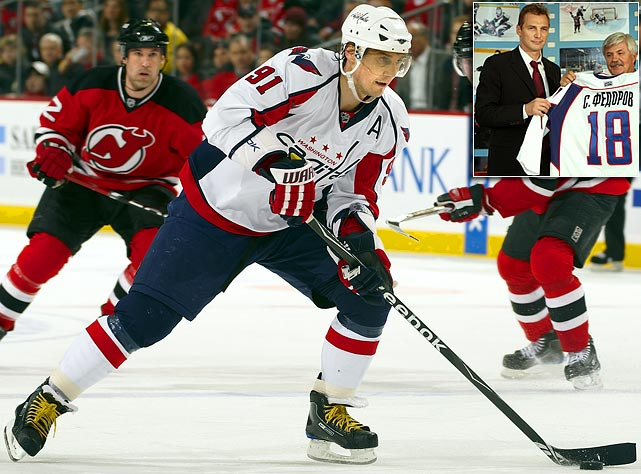 A six-time NHL All-Star, three-time Stanley Cup-winner, and league MVP (1994), Fedorov, 39, left the Washington Capitals in June 2009 to take a two-year deal for a reported $8 million with Metallurg Magnitogorsk, for whom his younger brother, Fedor, plays. Sergei scored 9 goals and 29 points in 50 games last season.