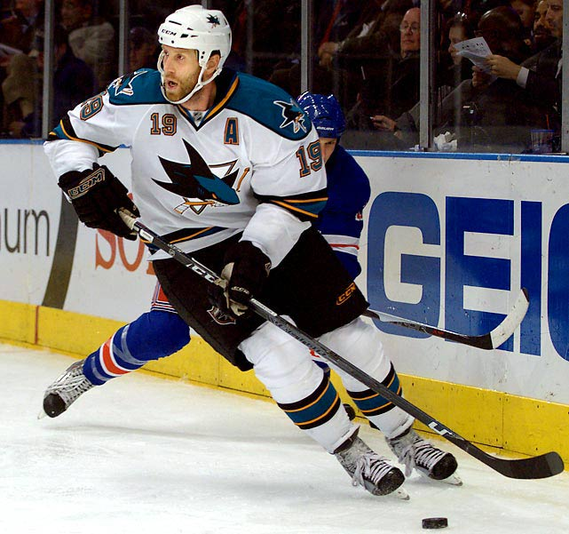 If San Jose doesn't keep him, Jumbo Joe will be the biggest name in the free agent pool. But if he and the Sharks continue to underachieve in the postseason, he'll come with the baggage that has dogged him for years: a reputation for coming up small in big games or series. During the 2010 playoffs, he scored three goals and 12 points in 15 games and was minus-11.