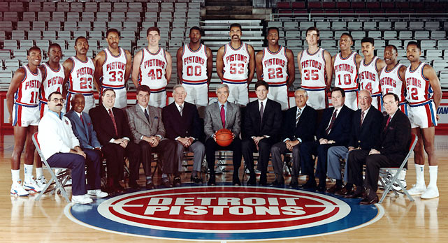 The 1988-89 Detroit Pistons finished with a 63-19 record before stampeding through the playoffs and winning their first of two consecutive NBA titles. In the process, they also became one of the most hated teams in sports history. Here are photos of the original Bad Boys.