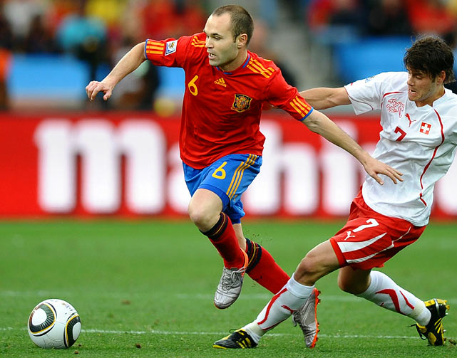 Iniesta is Xavi's sidekick at both club (Barcelona) and country and adds a bit more pace and creativity than Xavi. Also highly-regarded in world soccer.
