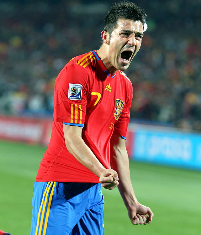 Spanish striker David Villa has scored 5 goals in the tournament and is tied for the tournament lead. He's had a hand in 6 of Spain's 7 goals in the tournament with 5 goals and an assist.