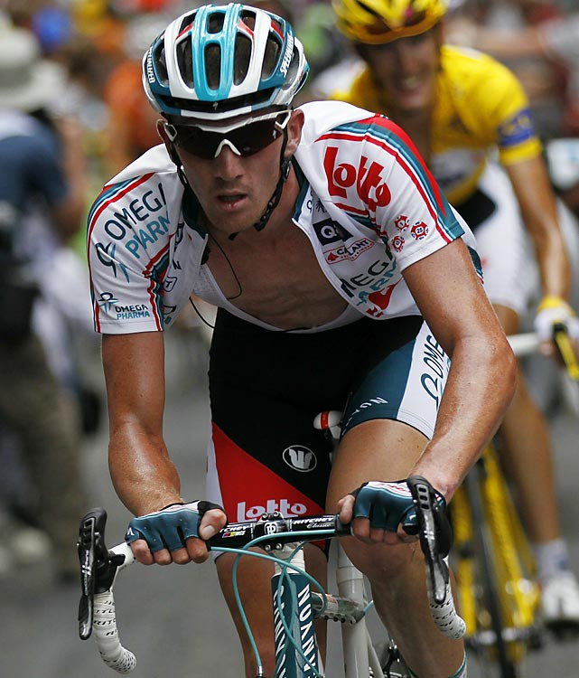 The Belgian thrived in his new role of team leader at the 2010 Tour, placing a surprising fifth. At 27, Van den Broeck may still be on the rise. It'll be up to his team, Omega Pharma-Lotto, to build around him and keep the momentum going.