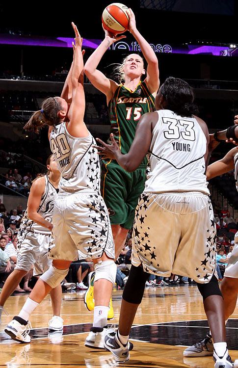 Lauren Jackson has been a mark of stability in leading Seattle to an 18-2 record and 10-game lead in the Western Conference through July 19. She has bested her career averages in points, rebounds and 3-point shooting percentage. She's also shooting 93.5 percent from the free-throw line, up from her career average of 84 percent.