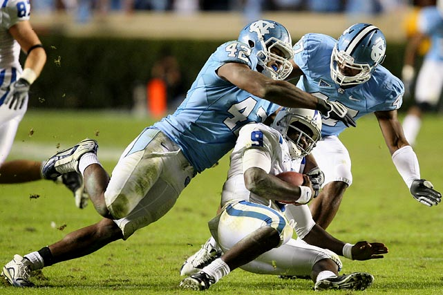 Despite coming off brain surgery for a benign tumor in high school in 2007, Quinn almost immediately grabbed the starting job upon his arrival at North Carolina. He enters his junior season fresh off a year in which he finished 15th and 16th in the nation, respectively, in tackles for loss and sacks.