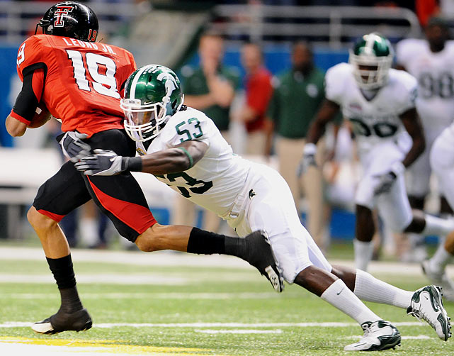 A consensus All-American last season, Jones ranked third nationally with 154 tackles, his third straight season as the Spartans' leading tackler.