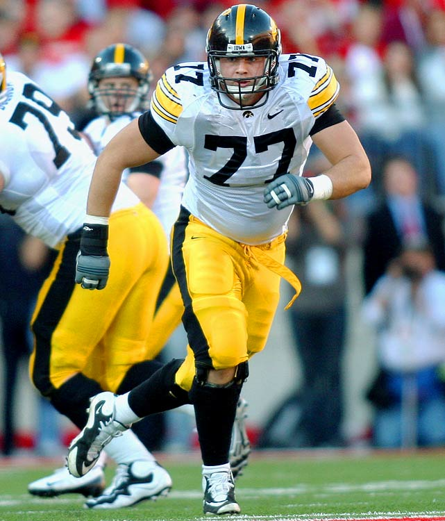 A rare freshman to start on Iowa's offensive line, the highly talented Reiff (6-foot-6, 300 pounds) will take over as the Hawkeyes' full-time left tackle.
