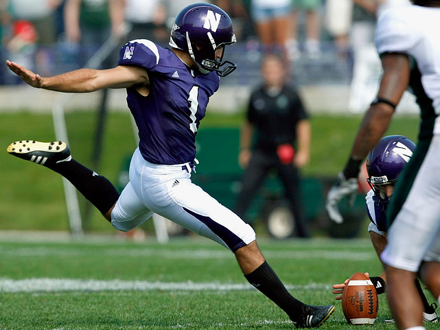 Last year's second team All-Big Ten kicker, Demos made 18-of-25 field goals, including a game-winning 49-yarder against Eastern Michigan.