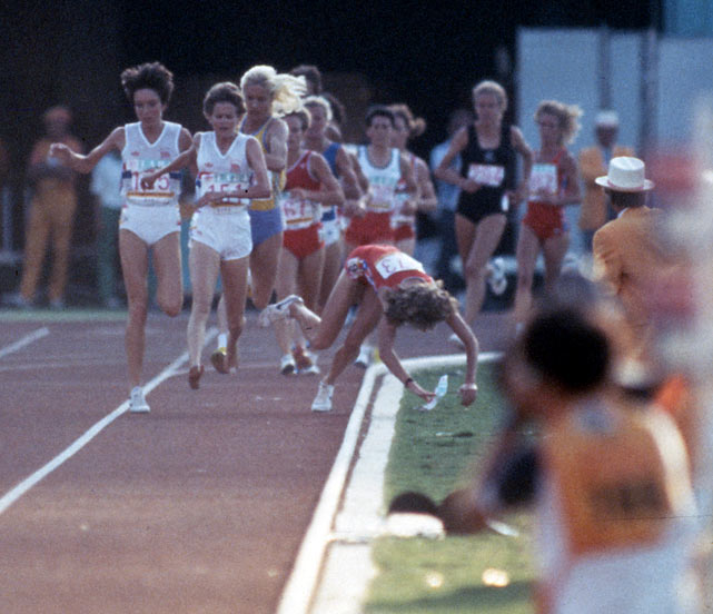 According to Zola Budd, one of the most famous barefoot runners in racing history, if you're running unshod it's best to be either first or last.  It was by this logic that Budd made her historic pass of Mary Decker, who subsequently clipped Budd's foot and tumbled to the infield during the 1984 Olympics. Though boos rained down on Budd from the Los Angeles Coliseum, the IAAF and history have absolved the shoeless wonder of culpability.