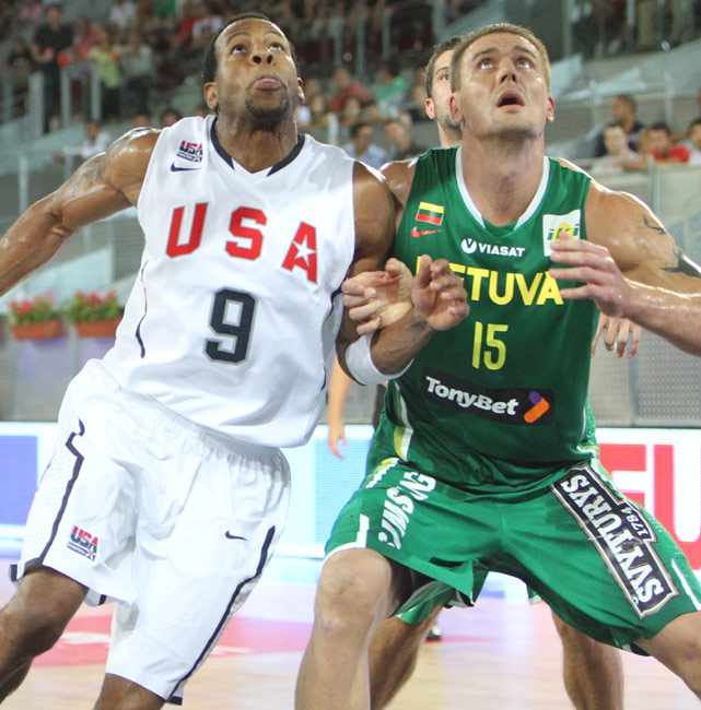 A member of the Lithuanian national team since 2002, Robertas Javtokas is one of the best big men in the competition. A motorcycle crash stalled his career in 2002, but Javtokas has since recovered and reclaimed his dominance. The 6-foot-11 center scored 10 points and pulled down six rebounds in an exhibition against Team USA on Aug. 21, holding his own against the likes of Tyson Chandler and Lamar Odom and even getting the better of them in some instances.