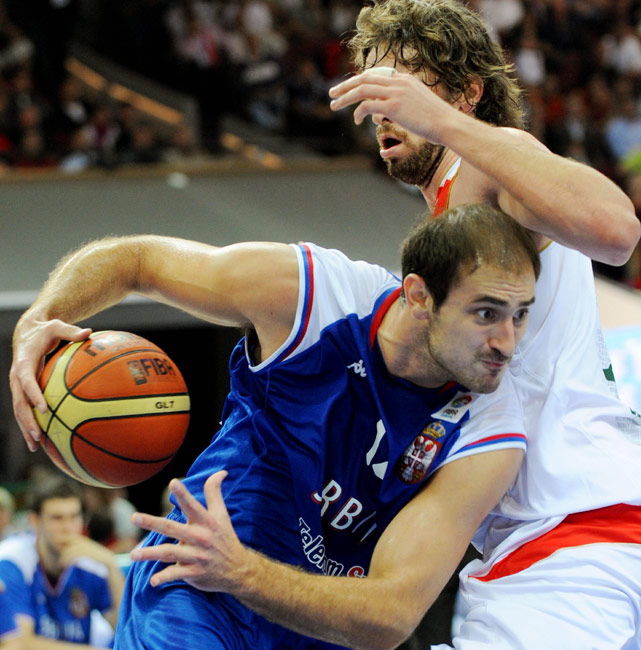 Nenad Krstic made headlines last week for his role in Serbia's brawl with Greece, but his play could do the same in Turkey (provided he isn't suspended because of the fight). Currently with the Oklahoma City Thunder, Krstic had his most productive NBA season with the New Jersey Nets in 2006, when he averaged 16.4 points and 6.8 rebounds before going down with an injury. The 7-footer is the oldest and most experienced player on Serbia's roster and could provide matchup problems for opposing national teams in the post.