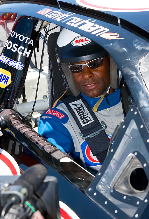 He ran up and down the football field pretty well, but Rice got to see what it was like to really go fast in a stock car at Infineon Raceway.