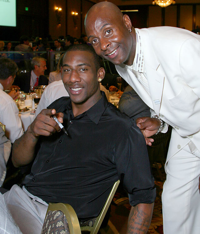 Rice with Amare Stoudemire at the Cedars-Sinai Sports Spectacular in June 2007.