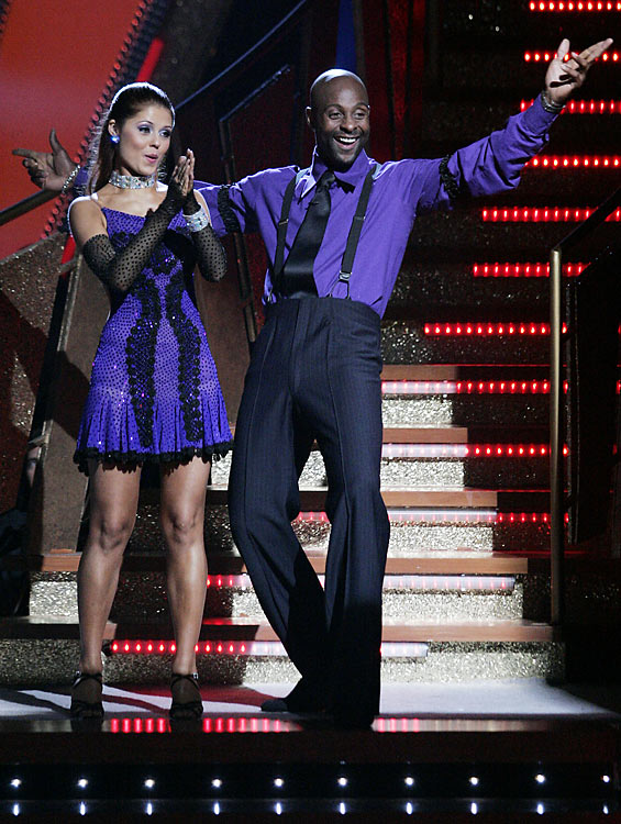 "With partner Anna Trebunskaya, Rice danced a jive in this installment of  Dancing with the Stars ."" Rice and Trebunskaya were the runners-up of the show's second season."