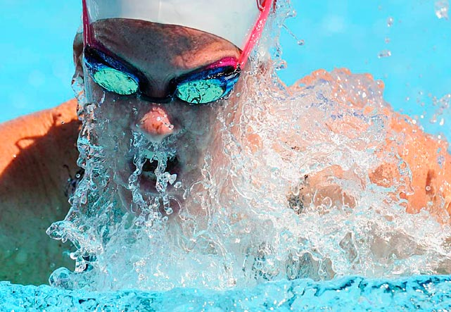 Julia Smit swims the breaststroke leg in a 200m individual medley heat in the USA Swimming National Championships at the William Woollett Jr. Aquatics Center on Aug. 3 in Irvine, Calif.